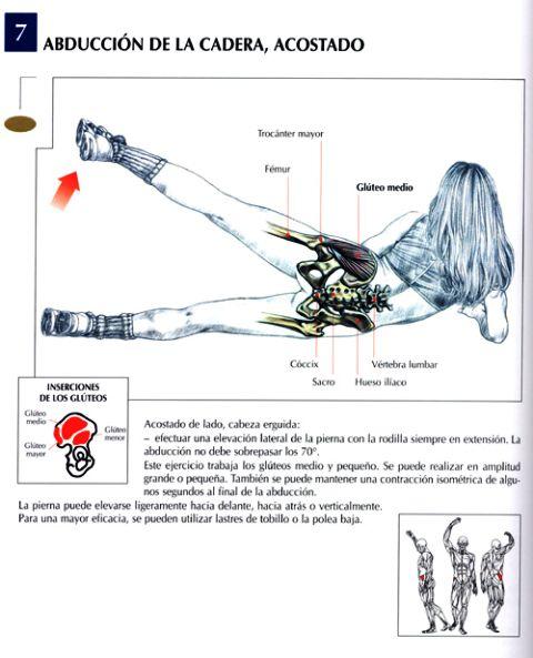 abduccion de la cadera acostado
