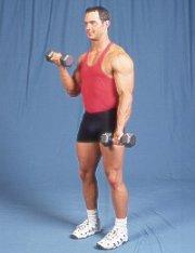 Curl de biceps con mancuernas