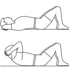 esquema, crunches o encogimientos abdominales