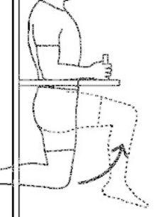 esquema, elevación de piernas