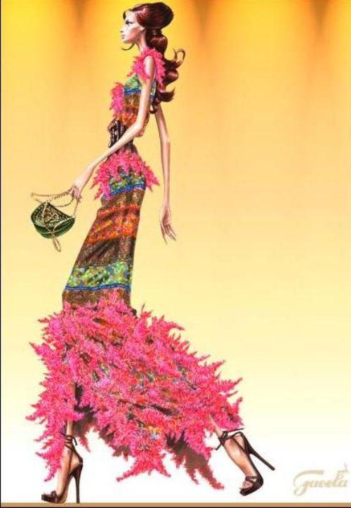 Dibujos de moda y anorexia