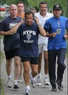 Sarkozy haciendo deporte