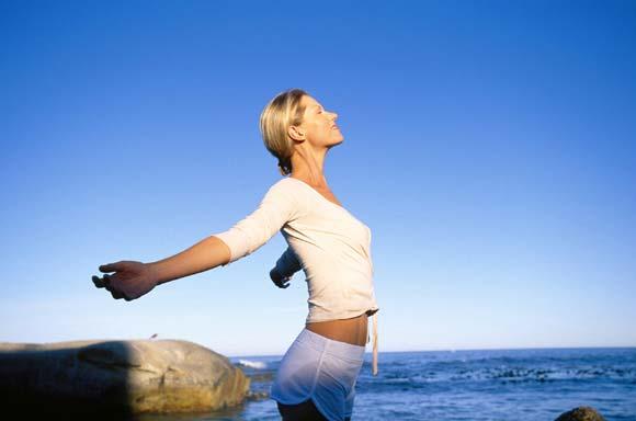 Yoga, respiración profunda y prolongada