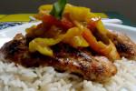 Receta light: pollo asado con balsámico pimentones