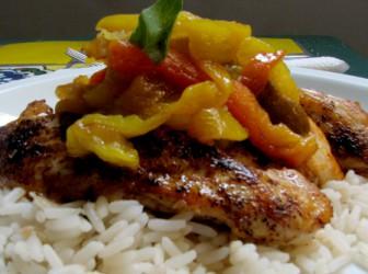 Receta light: pollo asado con balsámico pimentones 1