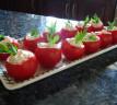Calabacín y tomates rellenos para la circulación
