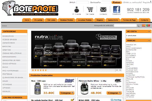 BoteProte, Suplementos Nutricionales