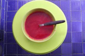 Menú del día: deliciosa crema de remolacha