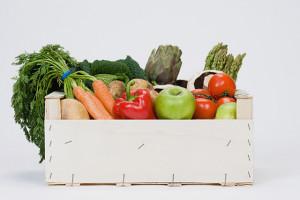 cajon de frutas y verduras