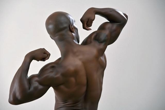 deportista de espaldas