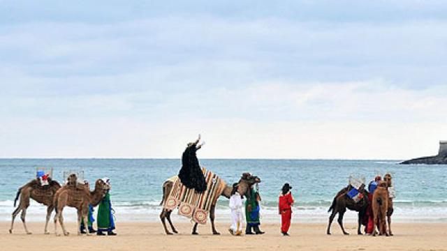 Los Tres Reyes Magos llegan a San Sebastián