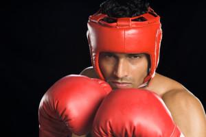 deportista practicando boxing