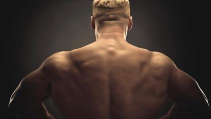 bodybuilder de espaldas