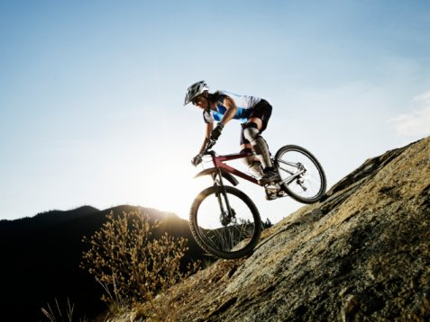 Descenso extremos en bici