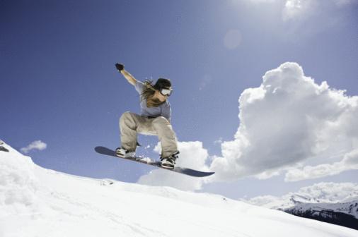 Deportes de invierno: snowboard