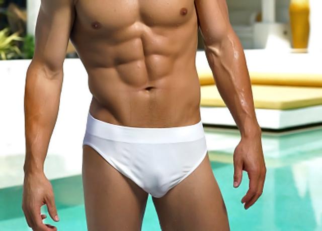 modelo en bañador