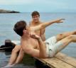 chicos en bañador