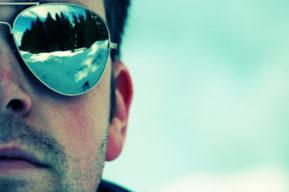 Las gafas de sol de estilo americano