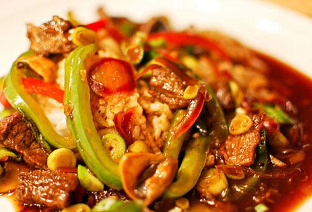 Pollo al wok con vegetales for Wok cuatro cocinas granollers