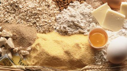 ingredientes para el pan