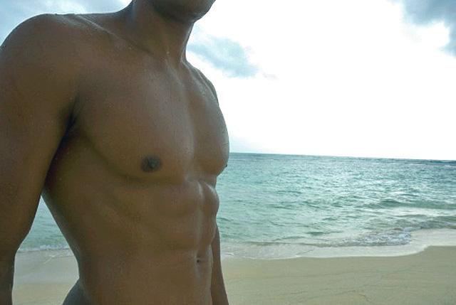 Hombre en la playa
