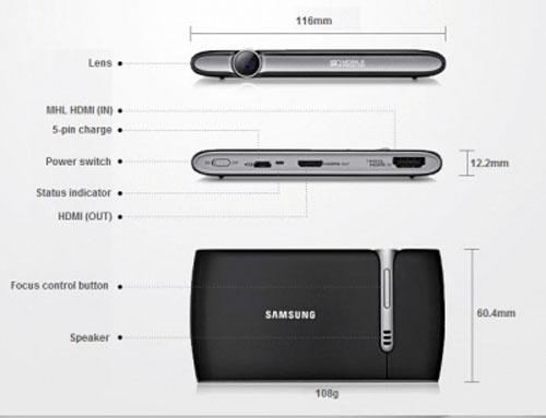 Nuevo mini proyector Samsung 1