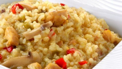 Arroz integral con pollo