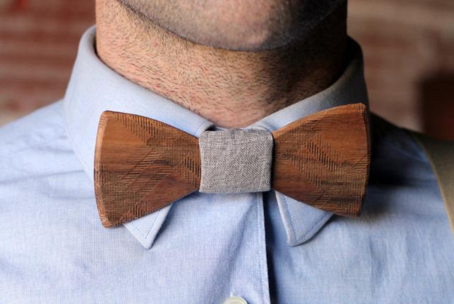 La pajarita de madera de Two guys Bow Ties