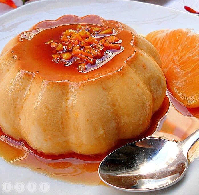 Flan de naranja con jengibre