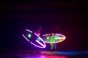 Surf-Noturno con luces LED