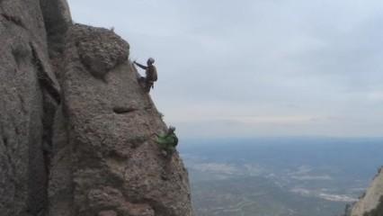 Ferrata Teresina en la montaña de Montserrat