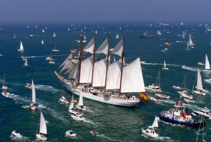regata de los grandes veleros en cadiz