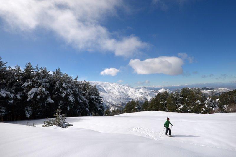 Esquiando en Sierra Nevada 1