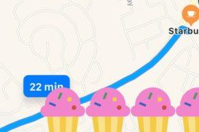 Google Maps eliminó su contador de calorías