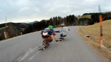 Practicar longboard