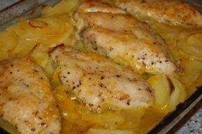 Pechugas de pollo con salsa de crema