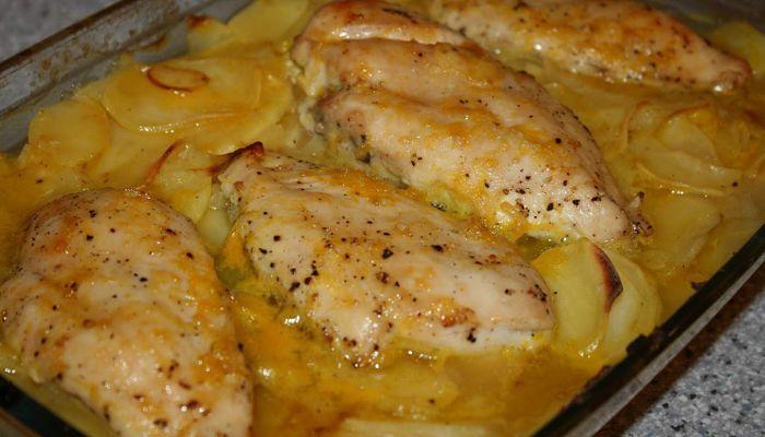 Pechugas de pollo con salsa de crema 1