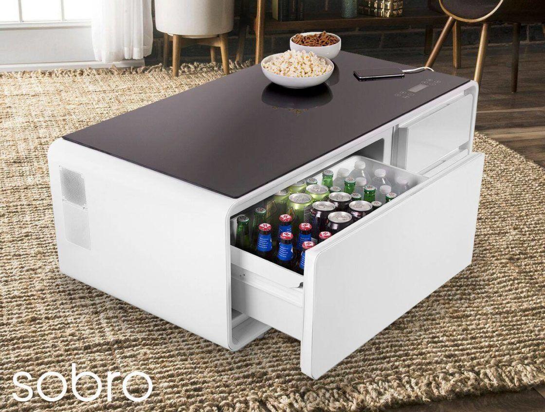 sobro side table la mesa inteligente. Black Bedroom Furniture Sets. Home Design Ideas