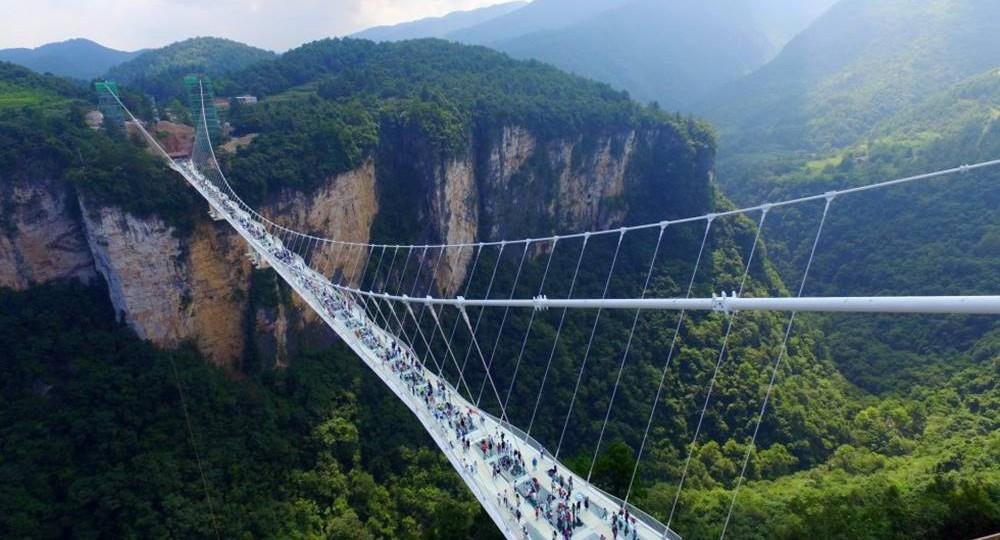 Conoce el  Puente de Vidrio del Gran Cañón Zhangjiajie 1