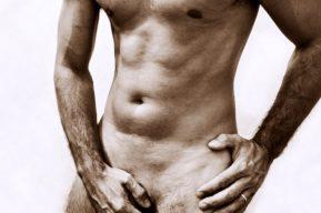 La liposucción del pubis del hombre