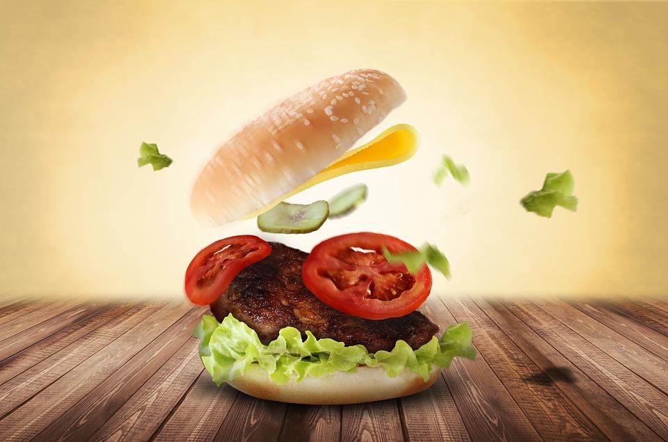 Hamburguesa con lechuga