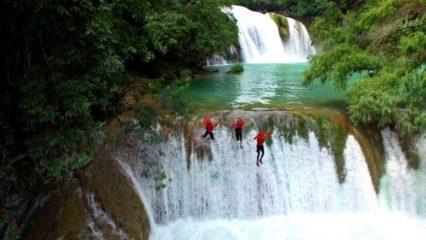 Saltos en cascadas de México