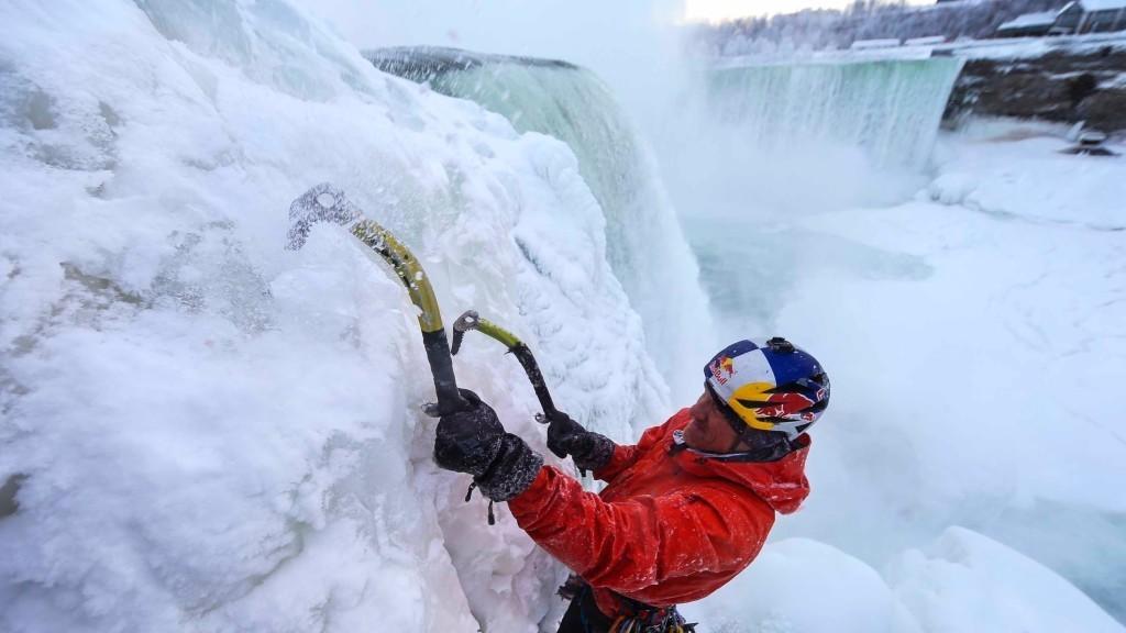 Escalada de cascadas heladas 1