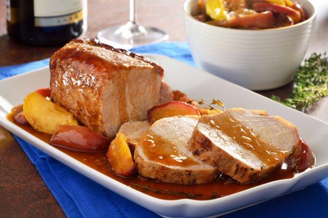 Lomo de cerdo con manzana para la cena de Navidad 1
